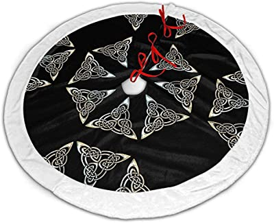 Myrdora Plata Negro Azul Triángulo Espirales Nudo Celta Falda de ...