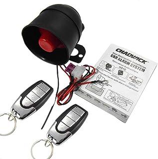 perfk Auto Alarmanlage für Einbrecher Alarmanlage Autoschutz Schlüsselloser Diebstahlsicherung Sicherheitssystem