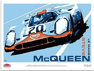 Steve McQueen Drives the Porsche 917 #20 Le Mans Art Poster by Nicolas Hunziker