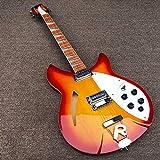 YYYSHOPP Guitars & Gear - Guitarra eléctrica de 6 cuerdas, guitarra eléctrica roja, guitarra acústica de acero, guitarras clásicas (color: guitarra, tamaño: 40 pulgadas)