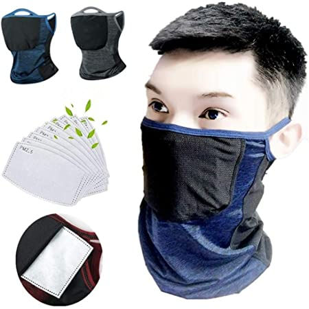 4 Pieces Sun Protection Nylon Neck Gaiter Breathable Half Face Cover Anti-Dust Bandanas for Summer Outdoors Unisex