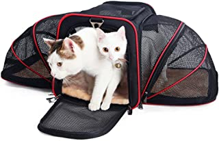 Yughb Airline Approved Pet Carriers,Soft Sided Collapsible Pet Travel Carrier for Medium Cats and Puppy ,for Small Medium Dogs/Cats