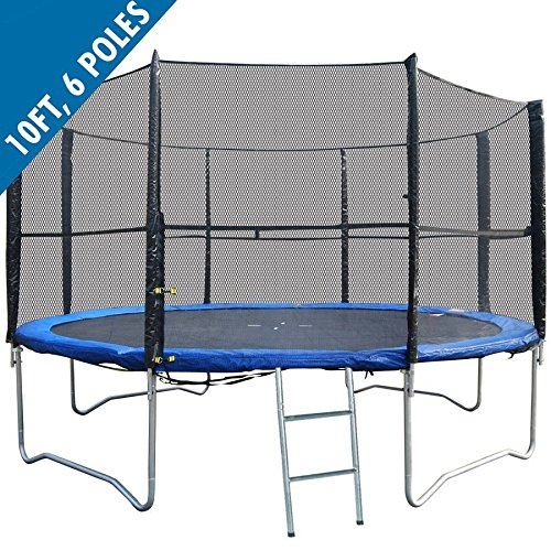 BodyRip PREMIUM BOUNCE Trampoline Safety 10FT NET (for 6-pole trampolines)