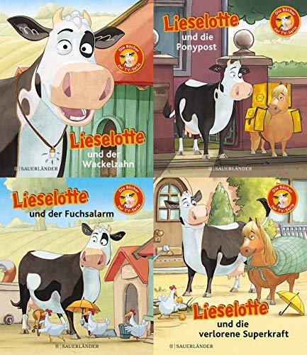 Lieselotte TV-Minis 4er-Set. Die Bücher zur Serie (Bundle Nr. 2): Lieselotte und der Wackelzahn. Lieselotte und die verlorene Superkraft. Lieselotte und die Ponypost. Lieselotte und der Fuchsalarm