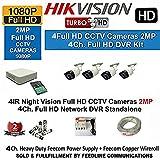 Hikvision DS-7104HQHI-F1 1080P (2MP) 4CH Mini Turbo HD DVR 1Pcs + Hikvision DS-2CE16DOT-IR