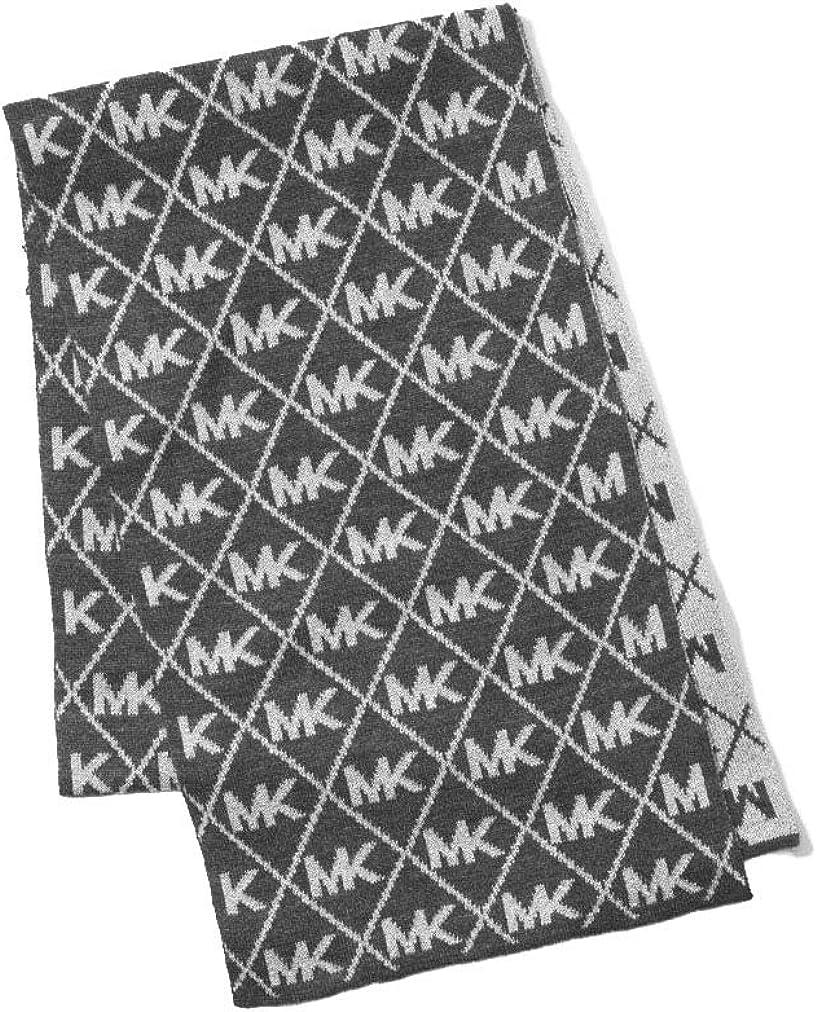 Michael Michael Kors Women`s Metallic Logo Hat and Scarf Set