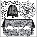 N\A Mantel De Halloween, Decoración De Pasteles De Halloween, Decoraciones De Tela De Fiesta De Halloween Interior, Decoraciones De Halloween para Fiesta Al Aire Libre,2