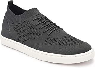 Parx Solid Dark Grey Coloured Synthetic Sneaker