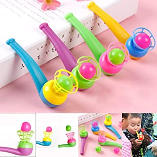 NIDONE Blue 1pc Infant Toys Blow Pipe and Eggs - Piñata Toy Loot/Wedding Party Bag Fillers/Children's Toy Ball Toys for Kids Childs Friends