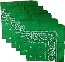 6 Color Pack Paisley Bandana Scarf, Head Wraps