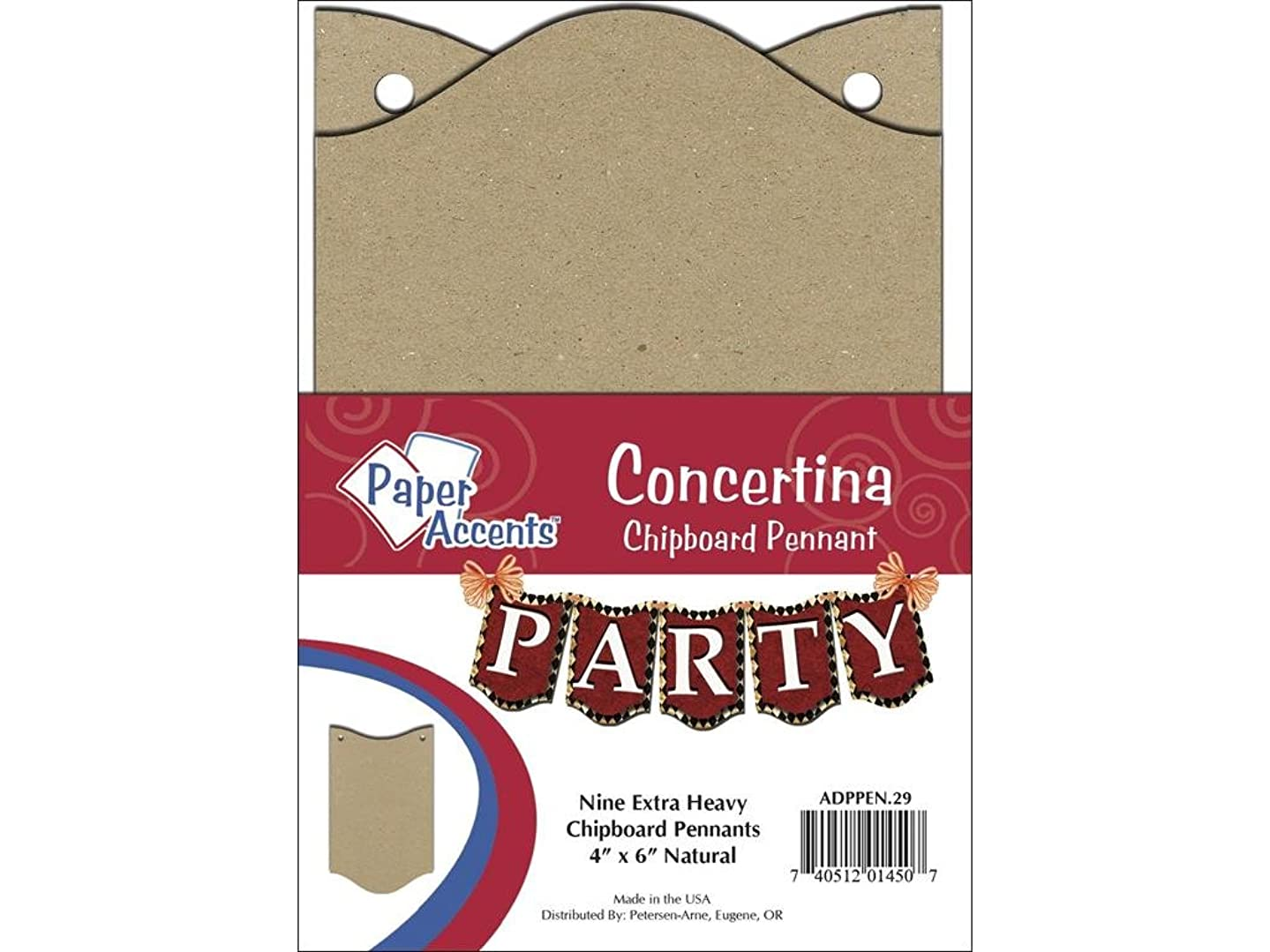 Accent Design Paper Accents ChipPennant 4x6 NAT Pennant Concertina