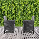 2 Pieces Outdoor Patio Chairs Balcony Furniture Patio Furniture Outdoor Wicker Patio Chairs Set Rattan Outdoor Seating Clearance,Suitable for Patio Garden Balcony Backyard Poolside