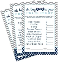 Paper Clever Party Bow Tie Baby Shower Game - Price is Right - Pack of 25