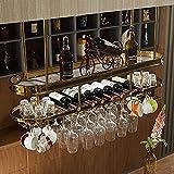 MQJ Tenedor de Copa de Vino Al Revés Inicio Bar Stemware Racks Colgando Vino Estante Estante Cubilet Holder Creativo Bebida Dispensador de Vinos Rack,120Cm (47.2In),120Cm (47.2In)