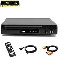 LP-077 Reproductor de DVD Multi Region (Full HD, HDMI, USB,Compatible con DIVX, JPEG y MP3) HDMI/Scart/RCA Salida conectada