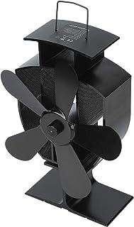 BOLORAMO Ventilateur de Distribution de Chaleur, matériau en Aluminium pour Ventilateur de poêle de cheminée pour cheminée...