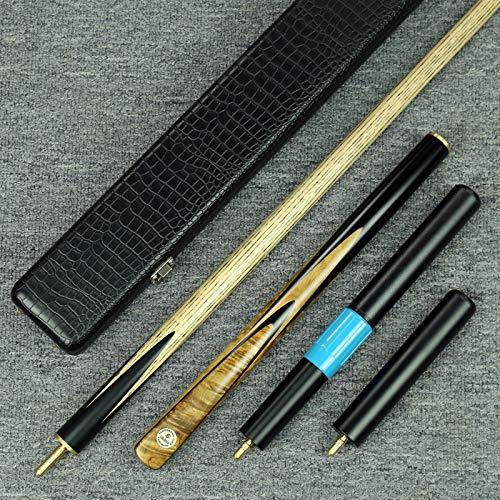 Grand-Cues-Handmade 58' Ash Shaft 3/4 Piece Ebony+Yellow Maple Burl Snooker...