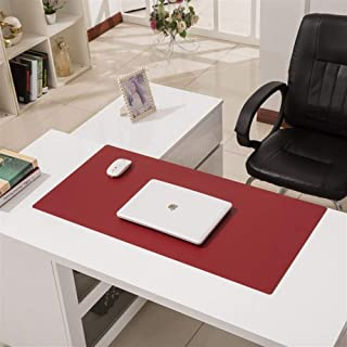 Extended Leather Gaming Mouse Pad, Large Office Writing Mat Dual-Use Non-Slip Waterproof Keyboard Pad Computer Desk Mat (C...