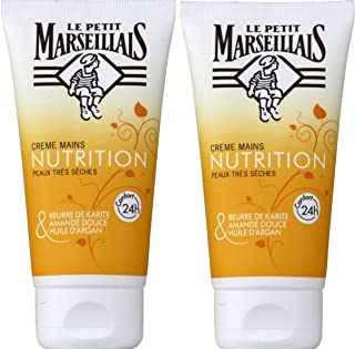 Le Petit Marseillais Nourishing Hand Cream for Very Dry Skin pack of 2. Made in France. 2x75ml (2x2.5fl.oz)