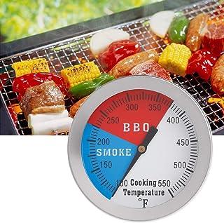 """BIlinli Indicatore di Calore del Carbone di Legna del Fumatore del BBQ del Barbecue del termometro del Barbecue di 2""""550F"""
