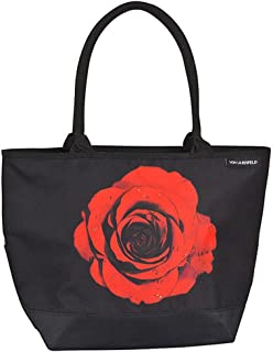 VON LILIENFELD Tasche Blumen Rose Henkeltasche Einkaufstasche Gross Shopper Casual Leicht Geräumig Umhängetasche
