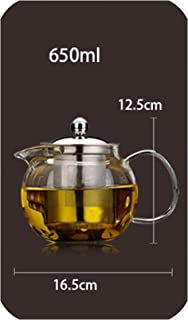 High Heat resistant glass Tea Pot,Chinese Flower Tea Set Puer Kettle Coffee Teapot Convenient With Infuser Office Home,650ml