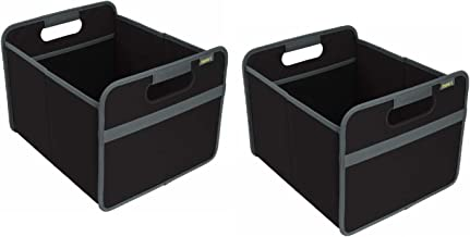 meori Foldable Box Classic Medium Lava Black 2-Pack Organize Carry up to 65lbs Storage Basket Car Trunk 6.5 Gallon Shopper