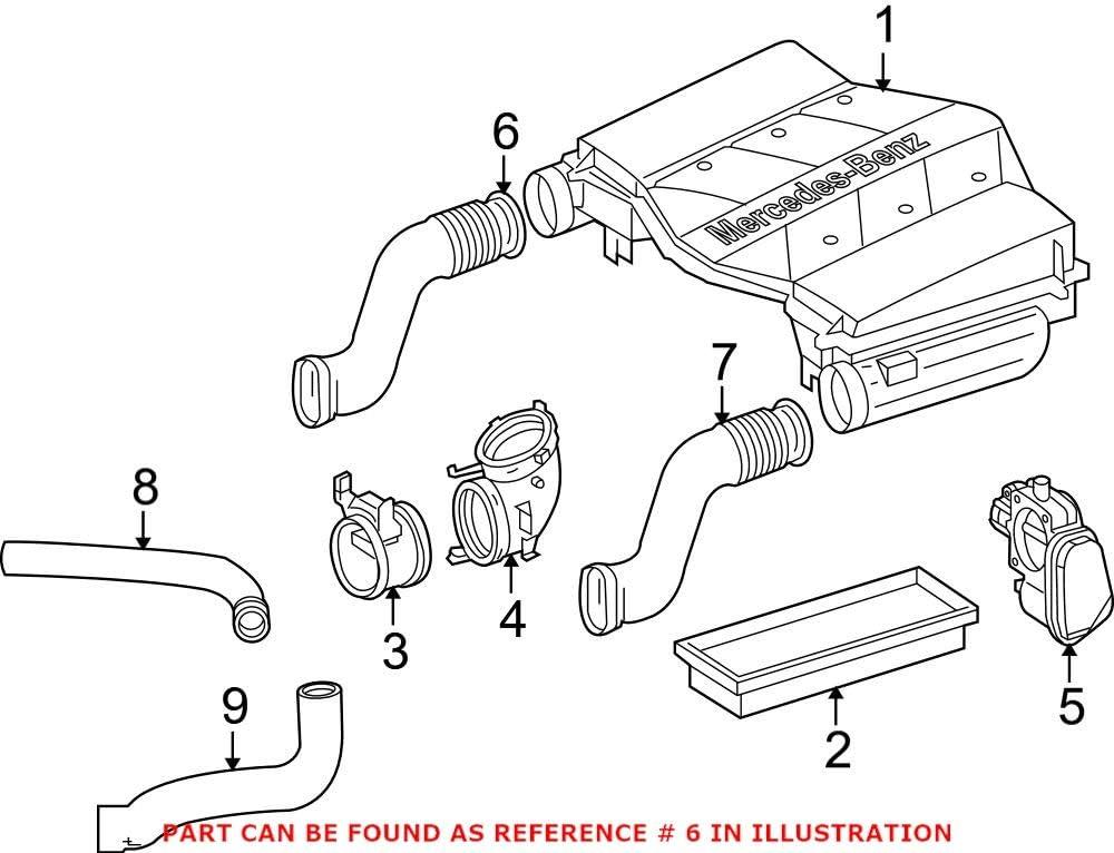 Genuine OEM Engine In stock Air Intake Mercedes Hose for 2720902882 Super intense SALE