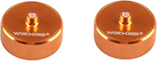 Worker Mod 2PCS Power Type Aluminum Alloy Flywheel Wheel Modification Kits for Worker Mod Flywheel Chamber and Nerf N-strike Elite Stryfe/Rapidstrike CS-18 Color Orange