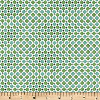 Riley Blake Designs 0443868 Riley Blake Cozy Christmas Square Green Fabric by the Yard