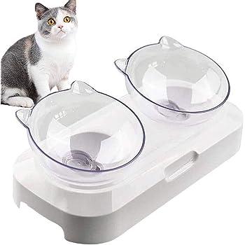 Cotill Cat Bowls Anti Slip Multi Purpose Cat Food Bowl Pet Water Bowl Cat Feeding Bowl Set Of 3 Grey Black White Amazon Co Uk Pet Supplies
