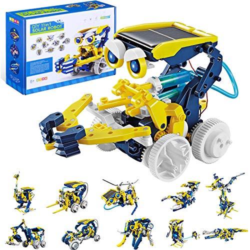 OFUN 11 in 1 Solar Roboter, STEM Spielzeug Bausatz Set Bausteine Bausätze Konstruktions Lernspielzeug Wissenschaftliches Kit als DIY Geschenk für Kinder ab 8 Jahre