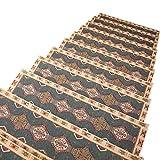 ZEQUAN Auto-Adhesivo de Silicona Paso de la Escalera Forro Antideslizante 6 Piezas Conjunto - sin Cinta (Color : Blue-2, Size : 75 * 27cm)