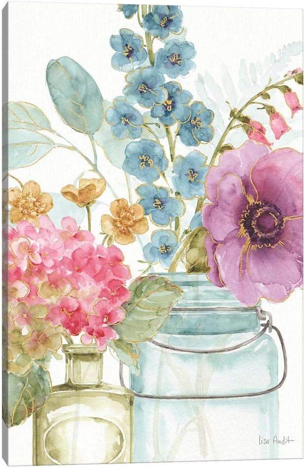 iCanvas WAC9372 Rainbow Seeds Charlotte Mall store Flowers by Canvas Lisa Print VIII