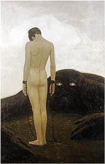 Global Gallery Art on A Budget DP-265511-36 Sascha Schneider A Feeling of Dependence Unframed Giclee on Paper Print, 36