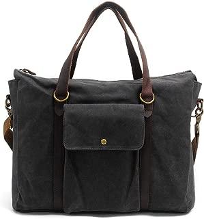 Mens Bag Vintage Canvas Briefcase Crossbody Day Bag for School and Work Multiple Pocket Men's Large Laptop Messenger Shoulder Bag High capacity
