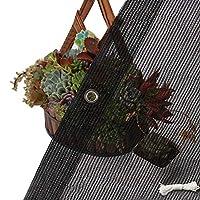 MTYLX シェードネッティングブラック、植物カバー用シェードネッティングブラックシェード布、70%の日焼け止め屋外サンシェイドキャノピー、グロメットと軽量,4Mx5M