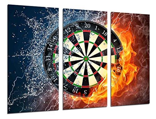 Wandbild - Spiele, Darts Diana, Spielzimmer, 97 x 62 cm, Holzdruck - XXL Format - Kunstdruck, ref.26378
