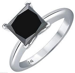 Best 2 carat black diamond solitaire ring Reviews