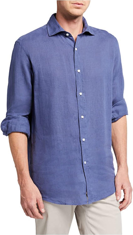 Ralph Lauren Mens Blue Collared Dress Shirt S 14.5-32/33