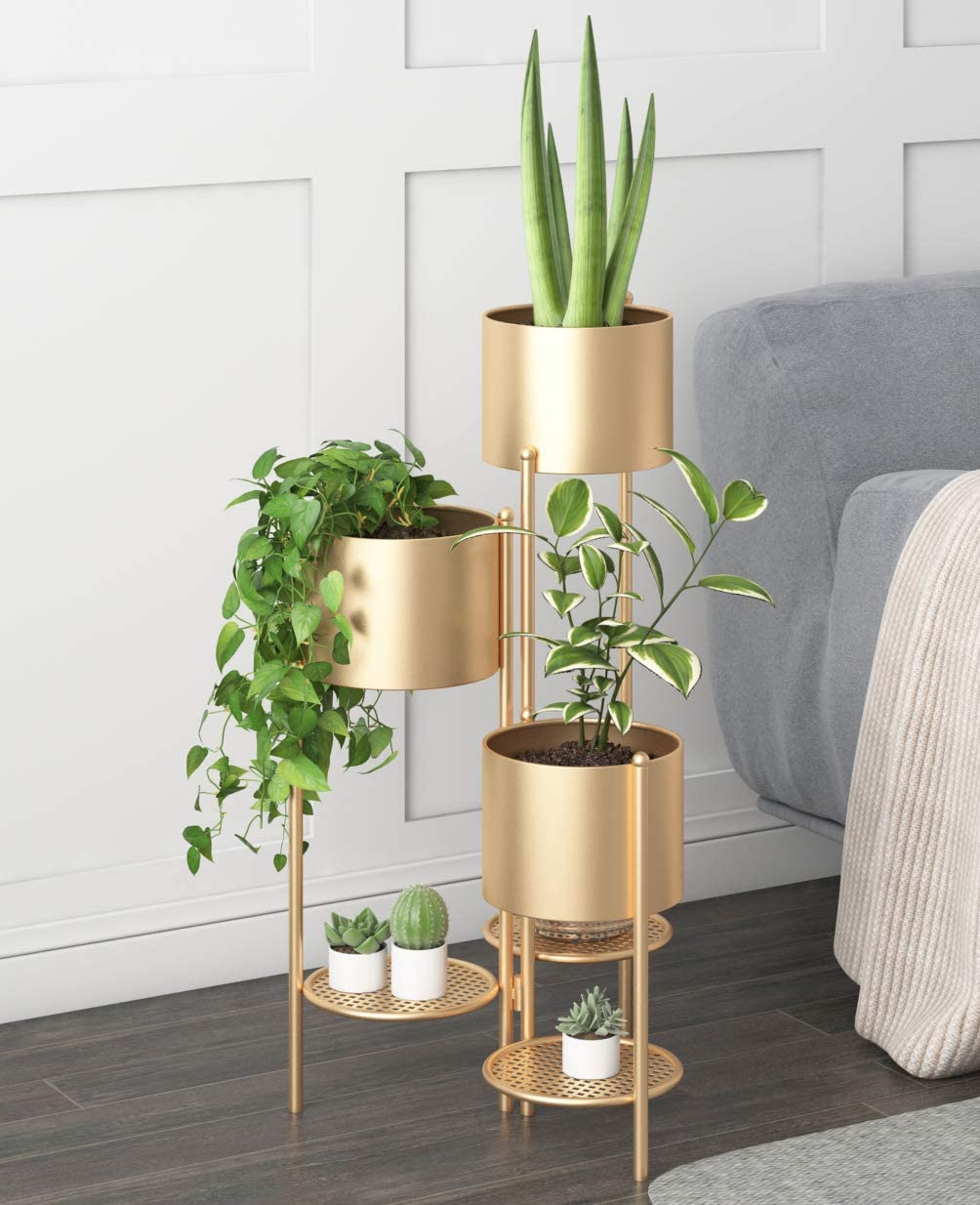Metal Plant Stand 6 Tier Potted Sta Pot New products world's highest quality popular Outdoor Flower Max 62% OFF Indoor