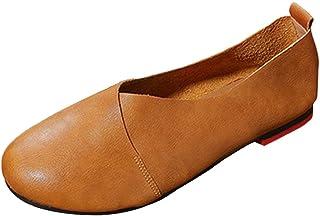 af8f4e95 Socofy Zapatos Mocasines Cómodos Para Mujer realizados EN Piel Genuina,  Planta Acolchada Para Total Confort