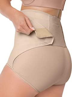 High-Waist Slimming C-Section Postpartum Recovery Panty with Adjustable Belly Wrap