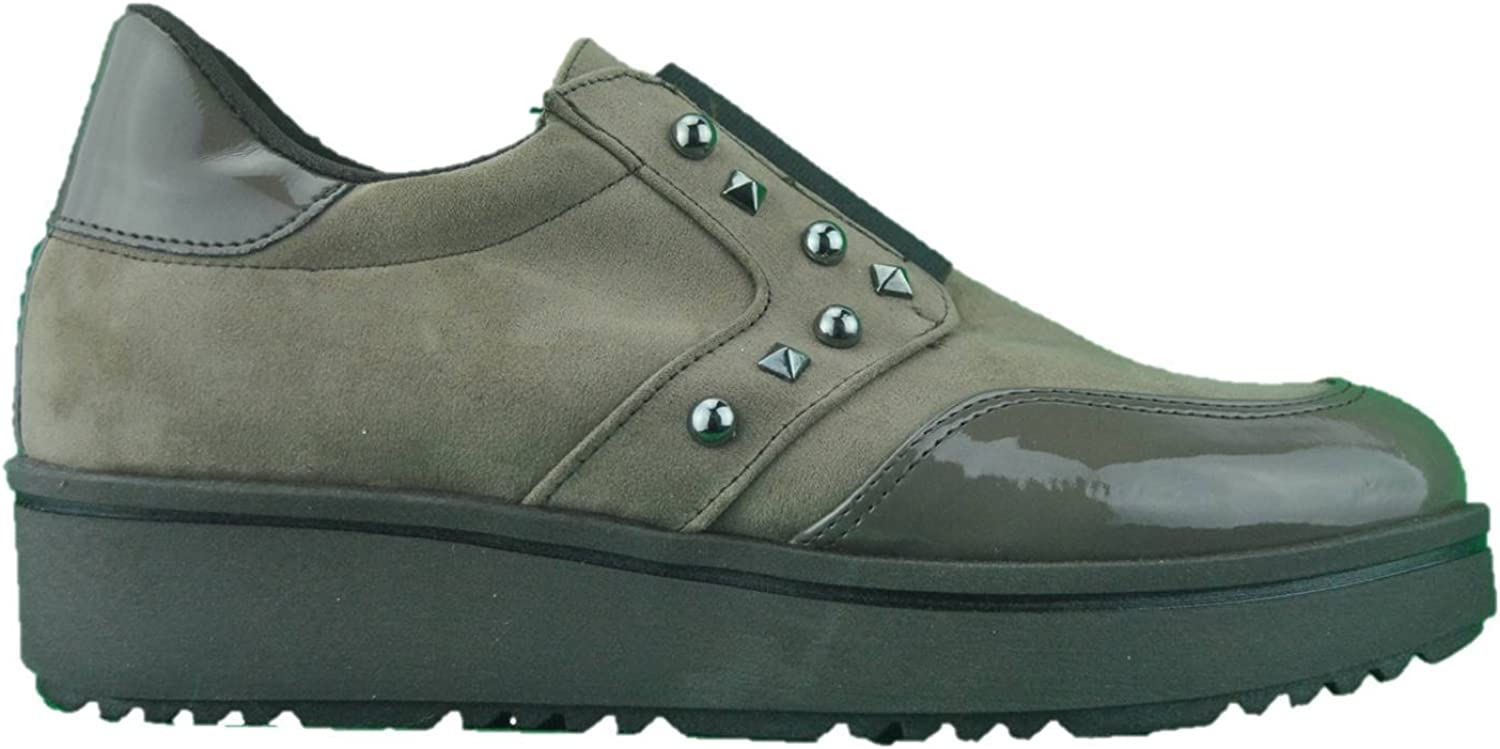 INART...women Mocassins Sneakers Low shoes Slip on Taupe Tortora Made in
