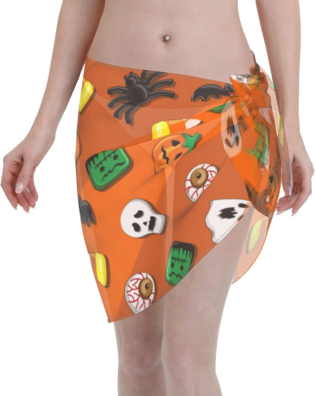 Lips on Zebra Women Chiffon Beach Sarong Cover UpCasual Swimsuit Bikini Wrap Skirt