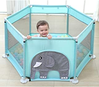 DNSJB Baby Fence Fence Children s Play Fence Infant Indoor Toddler Safety Crawling Mat Home  Color Elephant
