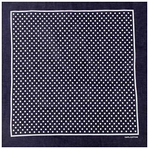Njuyd - Pañuelos de moda de 55 x 55 cm, diseño de lunares, multicolor