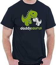 Brisco Brands Daddysaurus Dinosaur Dad Child Fathers Day T Shirt Tee