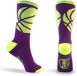 Basketball Sock by ChalkTalk SPORTS   Athletic Mid Calf Woven Socks   Basketball Wrap   Multiple Colors