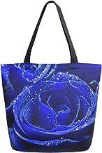HMZXZ RXYY Blumen- Blume Rose Drucken Segeltuch Tasche Schwer Pflicht Groß Frauen Beiläufig Schulter Tasche Handtasche Wiederverwendbar Einkaufen Tasche Bag für Draußen Reise
